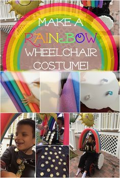 Learn how to make your very own rainbow Halloween costume for your child's wheelchair! The technique is actually easier than it looks.