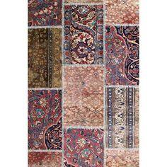 tapis patchwork Iranien fait de morceaux d'anciens kilims de Kilim Ada