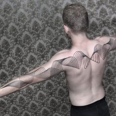 Tattoo by Chaim Machlev Dotstolines ChaimMachlev geometric lines flow