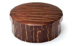 Sixteen-sided polygon cherry bark chest