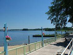 The boardwalk at Conneaut Lake Park