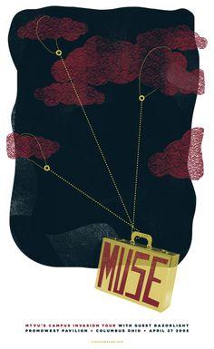 Muse gig poster. PromoWest Pavilion Columbus