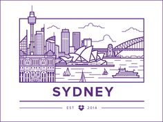 Dropbox Sydney office location illustration by Ryan Putnam