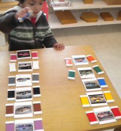 Have you ever had a child so focused on one thing that he or she is hard to reach? I had a 2 1/2 yr old boy so focused on cars that I made these car cards to match each color of the tablets in Color Box 2. He repeated this over and over and over, he learned the names of the colors, he shared this activity with others – it was a big hit! And eventually he was able to focus on other things. . .  car cards for cb2  Eleven cards of different colored cars laminated each card measures   3 1/4″