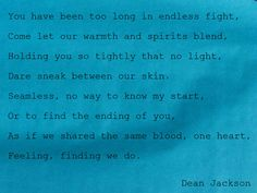 One ~ a poem from the Love in Blue series ~ LifeintheNow.com