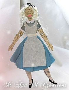 A whimsical Alice paper doll by M Ann M Creations