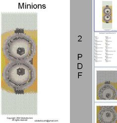 Minions Peyote Loom Pattern Art Image Wall by BeadingPattern