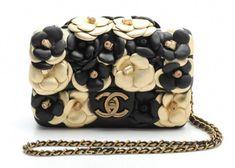 616be3bacb82 CHANEL Black and Gold Camellia Lambskin Mini Flap Bag #Chanelhandbags  #WomensShoulderbags Chanel Chanel,