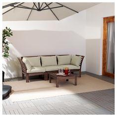 3er Sofa/außen ÄPPLARÖ Braun Braun Las., Hållö Beige Beige