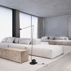 Want to Redecorate Your Living Room? Try These Simple Living Room Ideas Home Living Room, Interior Design Living Room, Living Room Designs, Living Spaces, Minimalist Interior, Minimalist Home, Tamizo Architects, Sala Grande, Interior Minimalista