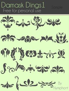 Use to create stencils, etc. for painting furniture. hmm how to make this into a giant stencil to make that big damask painted rug i want to do...