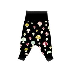 Flexi Harem Pants- Fleece Mushrooms