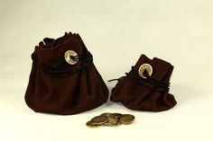 Universaltäschchen - Lederbeutel mit Finder, mittlere Grösse - ein Designerstück von Huhnikate bei DaWanda