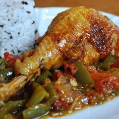 Recette de poulet basque - Ideas (i will organize this once school is over) - Crockpot Recipes For Two, Baked Chicken Recipes, Great Recipes, Cooking Recipes, Favorite Recipes, Easy Sesame Chicken, Chinese Chicken, Frango Chicken, Mauritian Food