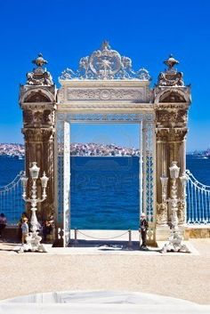 Gate In The Garden Of Dolmabahce Palace, Istanbul, Turkey Royalty Free Stock Photo, Pictures, Images And Stock Photography. Image 4727713.