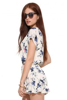 Flower Power Romper in Ivory | Necessary Clothing