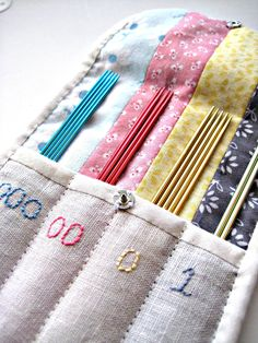 Sock Knitting Needle organizer What on amazing idea!