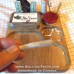 The ideal gift for the herbalist in your family.! www.RollingTrays.com   Each tray includes attached storage tin, rolling papers, scissors, custom poker, baggies, and stickers (grinder/lighter not inc).   Also...We are having a blow out sale on our small Dr. J's Rolling Trays. $39.99CAD while quantities last.   Visit www.RollingTrays.com    #drjsrollingtrays #rollingtray #rollingtrays #budtray #sale #gift #present #myrollingtray #weedtray #jointrollingtray #present #handmadeincanada…