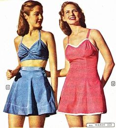 It may still be snowing at your house, but we can all look forward to summer. The Montgomery Ward Spring/Summer Catalog for 1945 has some su. 1950s Summer Fashion, 1940s Fashion, Vintage Fashion, Vintage Summer Outfits, Vintage Dresses, Vintage Clothing, Cool Outfits, Fashion Outfits, Womens Fashion
