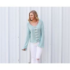 Sassy in Sage Sweater from Shop Southern Roots TX