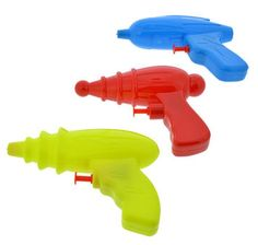3 PACK WATER PISTOLS TOY SQUIRT GUNS WATER SQUIRTERS PLASTIC PLAY  #Unbranded