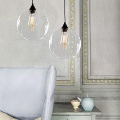 Tuscany Round Glass Pendant Light #60W #cafe #Ceiling-Light