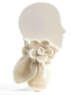 Neck Warmer with Flower   Yarn   Free Knitting Patterns   Crochet Patterns   Yarnspirations