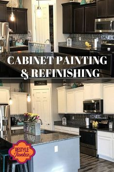 We are experts in cabinet refinishing who thrive on meeting challenges with creativity and expertise.  Cabinet Refinishing   Cabinet Painting   Before & After   Restyle Junkie   Home Makeover   Updated Home   Home Renovation   Greater Phoenix Area Staining Cabinets, Diy Cabinets, Cabinet Refinishing, Retro Home Decor, Unique Home Decor, Diy Home Decor, Home Renovation, Home Remodeling, Cabinet Paint Colors