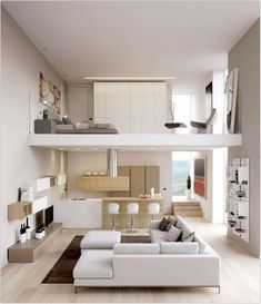 Some of the most successful decorators have a streamlined approach to decorating their homes. But what makes a successful home? Here are 33 of the most successful and popular Modern Minimalist bedroom design inspirations: Loft Apartment Decorating, Apartment Layout, Apartment Interior, Apartment Design, Modern Loft Apartment, Korean Apartment, Modern Lofts, Apartment Plans, Contemporary Apartment