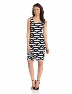 Calvin Klein Women's Banded Stripe Dress, Black/White, 4 Calvin Klein,http://www.amazon.com/dp/B00BISRLS2/ref=cm_sw_r_pi_dp_N9o.rb0PCQKJ8DF3