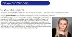 EAGLE BIZ AWARDS – Our congratulations go to Private Investigator Olivia Ellenger of Answers #Investigation who won the 'Young Person in Business' category in the Eagle Radio #Biz Awards on Thursday 23rd April http://www.answers.uk.com/services/eaglebizaward.htm T:01483 200999
