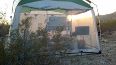 PahaQue ScreenRoom at sunset  #camping  #desert  #arizona  #pahaque