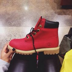 womens red timberland boots