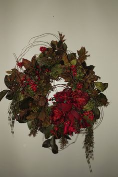 105 best christmas flower arrangements images on pinterest christmas wreath silk flower arrangement by ladida flowers mightylinksfo