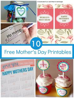 10 Free Printables for Mother's Day