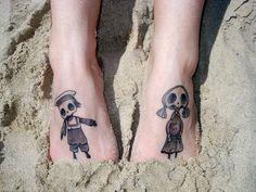 Cute Tim burton brother sister tattoos