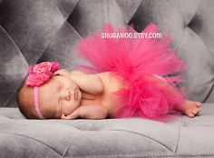 Azlyn Collection Hot pink Newborn tutu Infant Baby by SnugAWoo