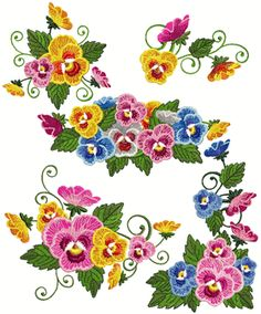 Ageless Embroidery has some beautiful flower sets that are new and currently…