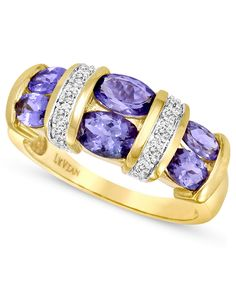 Purple reigns in this ring from Le Vian. Oval-cut tanzanite stones...gorgeous