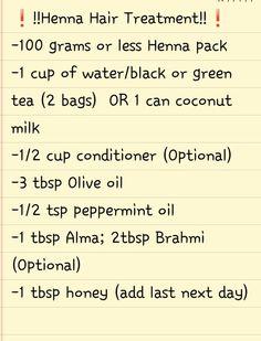 Henna Hair Treatment Recipe