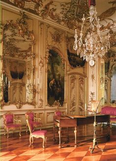 The music room in Sanssouci, the former summer palace King of Prussia