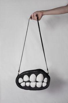 Teeth Bag - Black | Larissa Hadjio | Shop | NOT JUST A LABEL