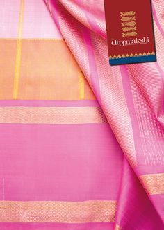 Kattam Saree with beautiful pink and orange combination. Stand out from the…