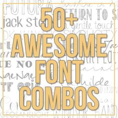 Font combos