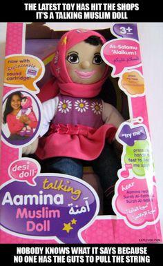 Talking Muslim doll