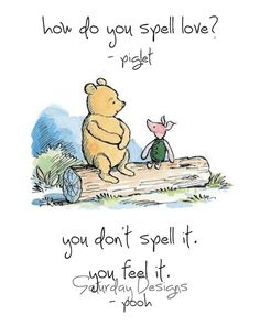 spell love winnie the pooh picture quote