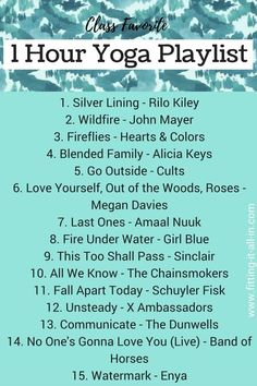 Yoga playlist. A few of these I would use More