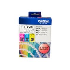 Brother LC135XL CMY Colour Pack - up to 1200 pages per colour