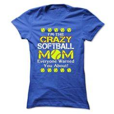 im a crazy softball mom - #disney hoodie #cute sweater. SECURE CHECKOUT => https://www.sunfrog.com/Sports/im-a-crazy-softball-mom-Ladies.html?68278