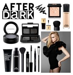 """After Dark"" by apollinariya-664 ❤ liked on Polyvore featuring beauty, By Terry, Lord & Berry, Givenchy, Yves Saint Laurent, NARS Cosmetics, MAC Cosmetics, Clark's Botanicals, black and YSL"